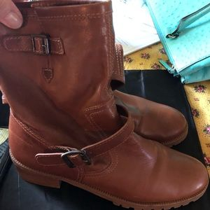 Michael Kors Tan leather ankle MOTO boots